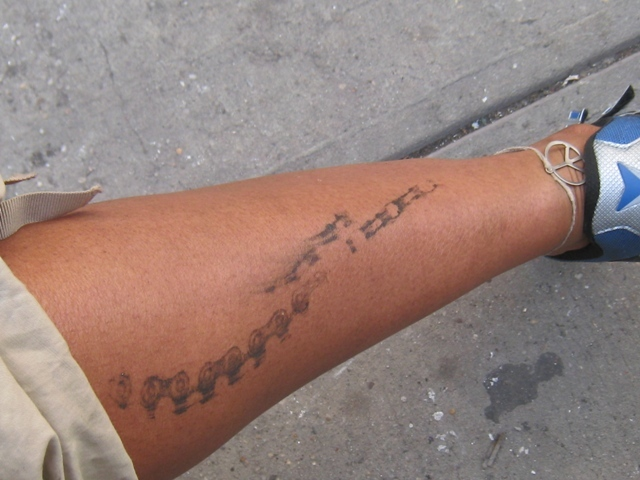 So I want to get a tattoo that looks identical to the chain-tag,